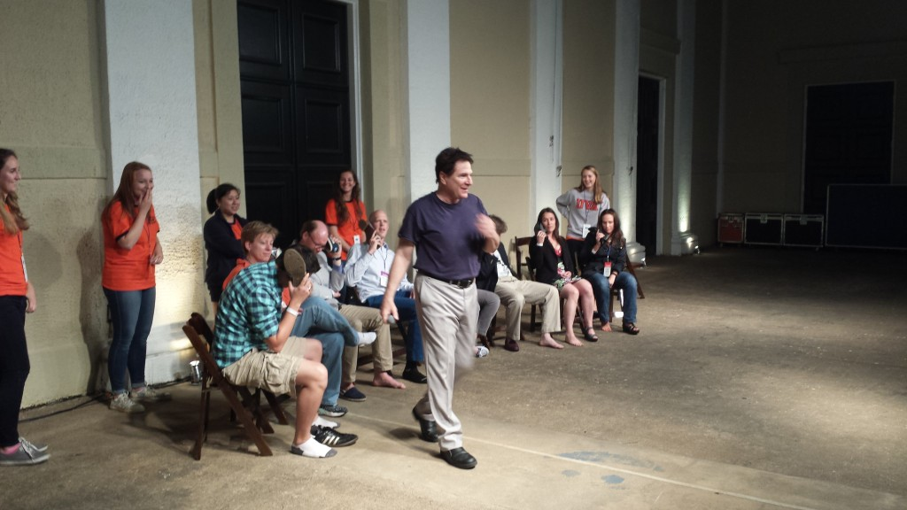 Alumni hear music from shoes  -  from different decades